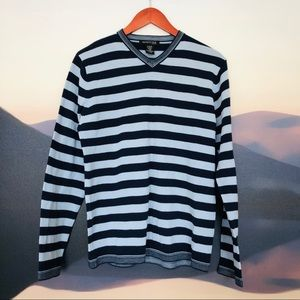 Kenneth Cole wool blend striped sweater